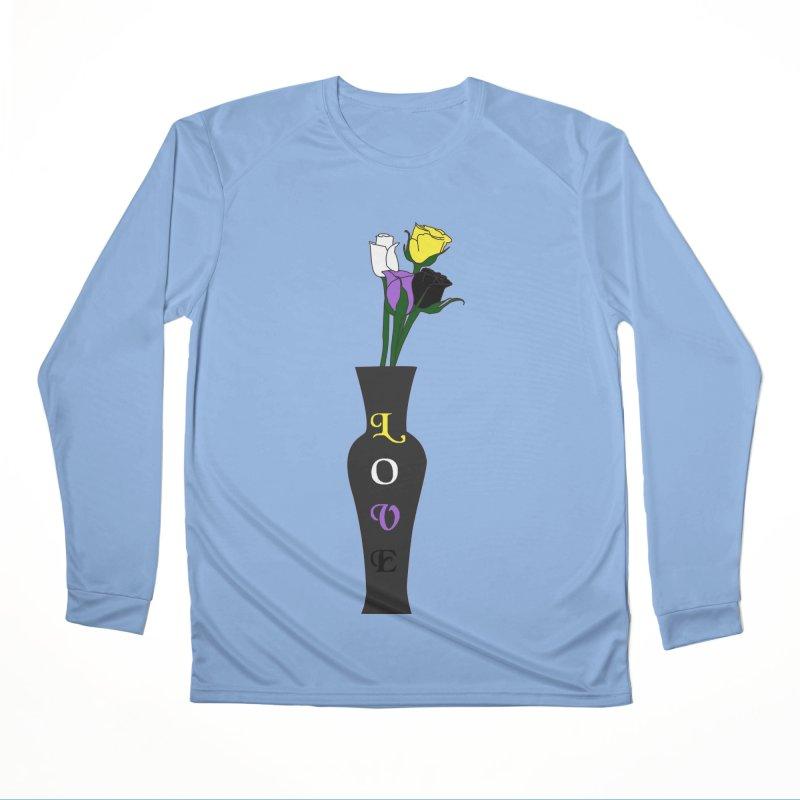 Non-Binary Pride Roses Men's Longsleeve T-Shirt by Artistfire Studios