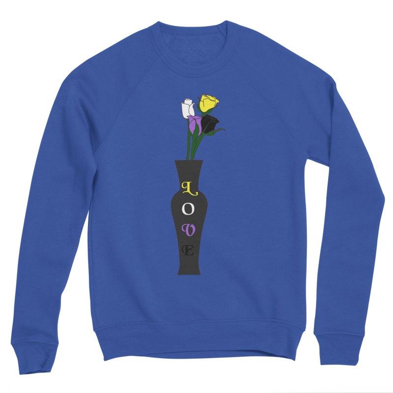 Non-Binary Pride Roses Men's Sweatshirt by Artistfire Studios