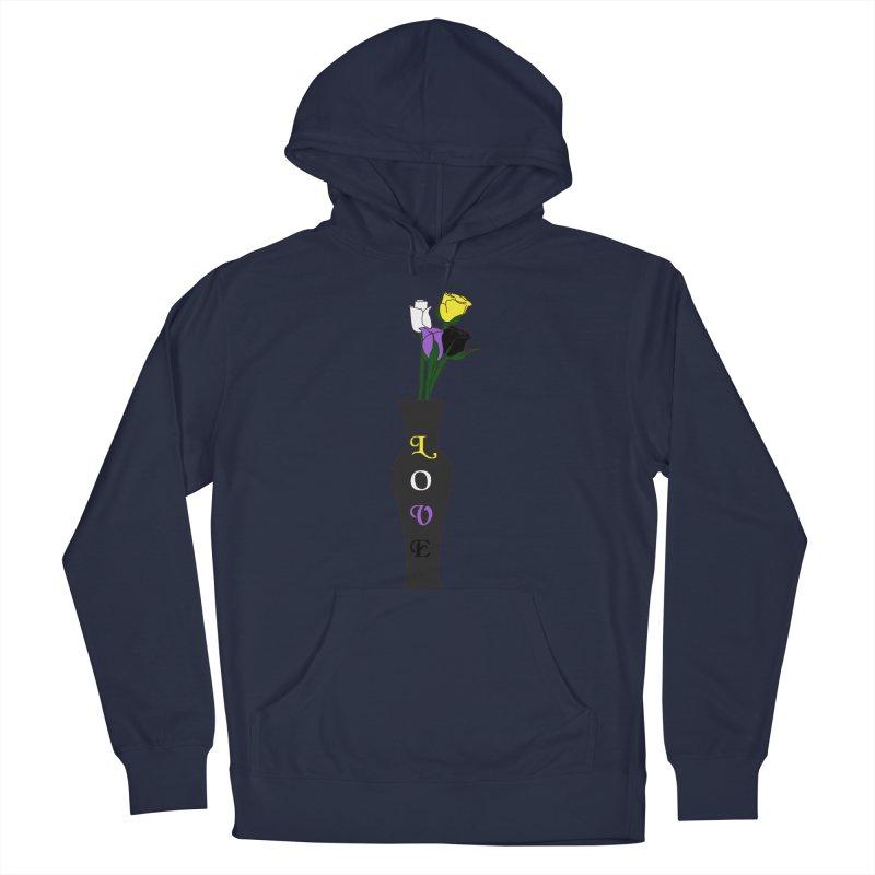 Non-Binary Pride Roses Men's Pullover Hoody by Artistfire Studios