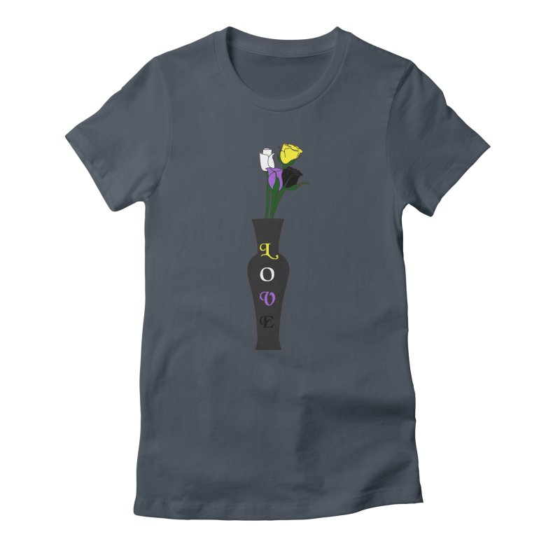 Non-Binary Pride Roses Women's T-Shirt by Artistfire Studios