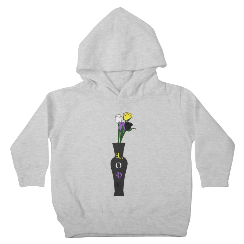 Non-Binary Pride Roses Kids Toddler Pullover Hoody by Artistfire Studios