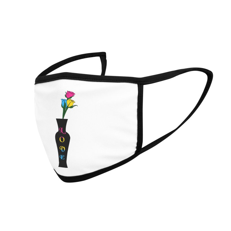 Pansexual Pride Roses Accessories Face Mask by Artistfire Studios