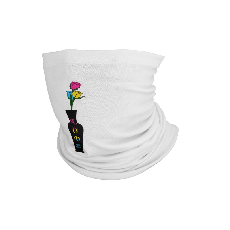 Pansexual Pride Roses Accessories Neck Gaiter by Artistfire Studios