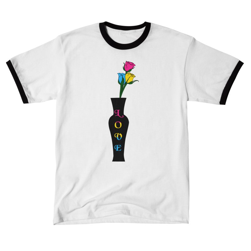 Pansexual Pride Roses Men's T-Shirt by Artistfire Studios