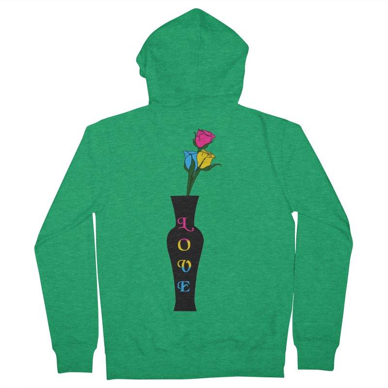 Pansexual Pride Roses Men's Zip-Up Hoody by Artistfire Studios