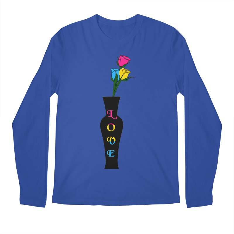 Pansexual Pride Roses Men's Longsleeve T-Shirt by Artistfire Studios