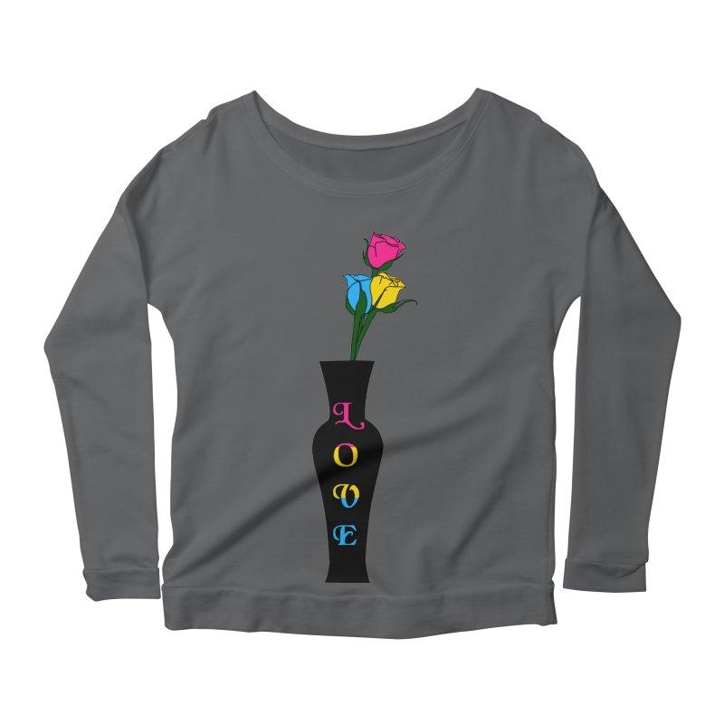Pansexual Pride Roses Women's Longsleeve T-Shirt by Artistfire Studios