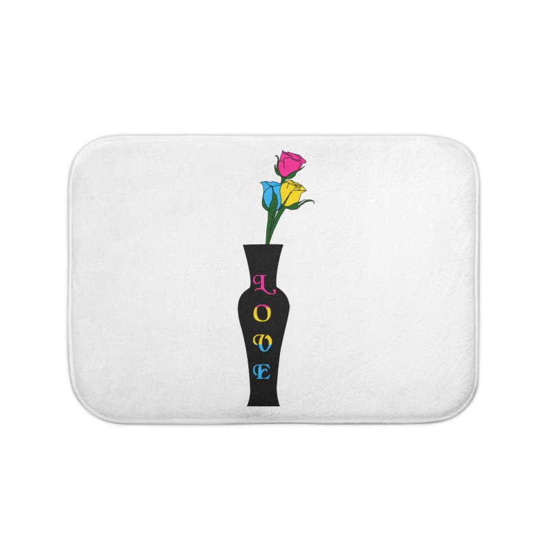 Pansexual Pride Roses Home Bath Mat by Artistfire Studios