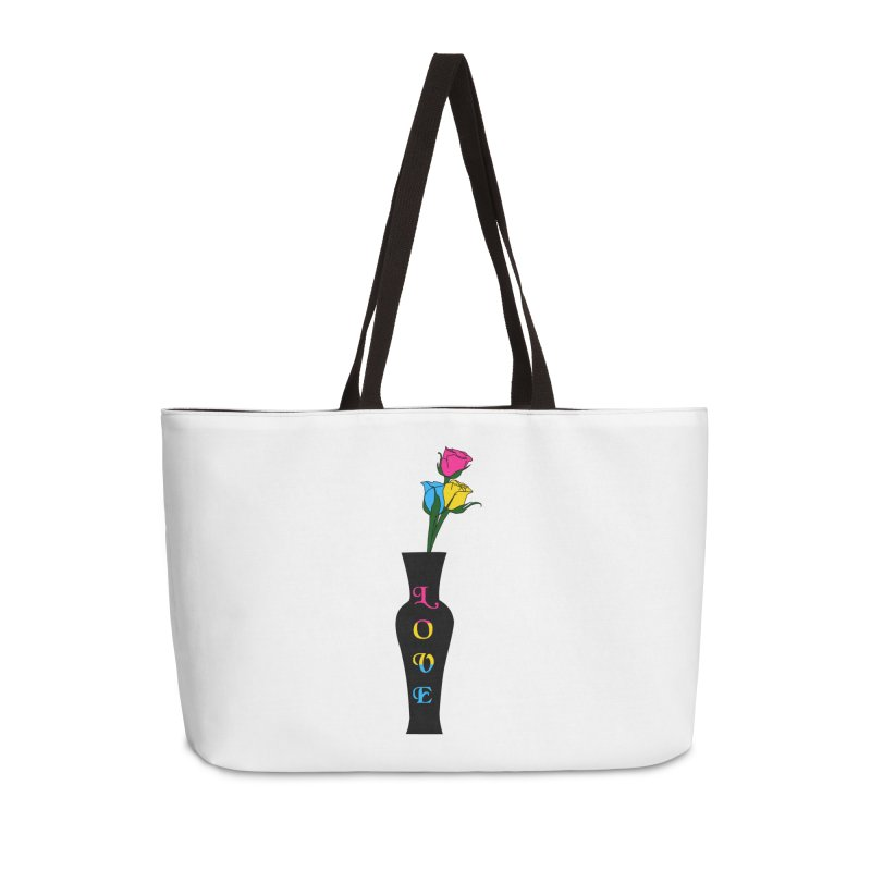 Pansexual Pride Roses Accessories Bag by Artistfire Studios