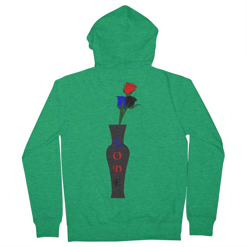 Polyamorous Pride Roses Men's Zip-Up Hoody by Artistfire Studios