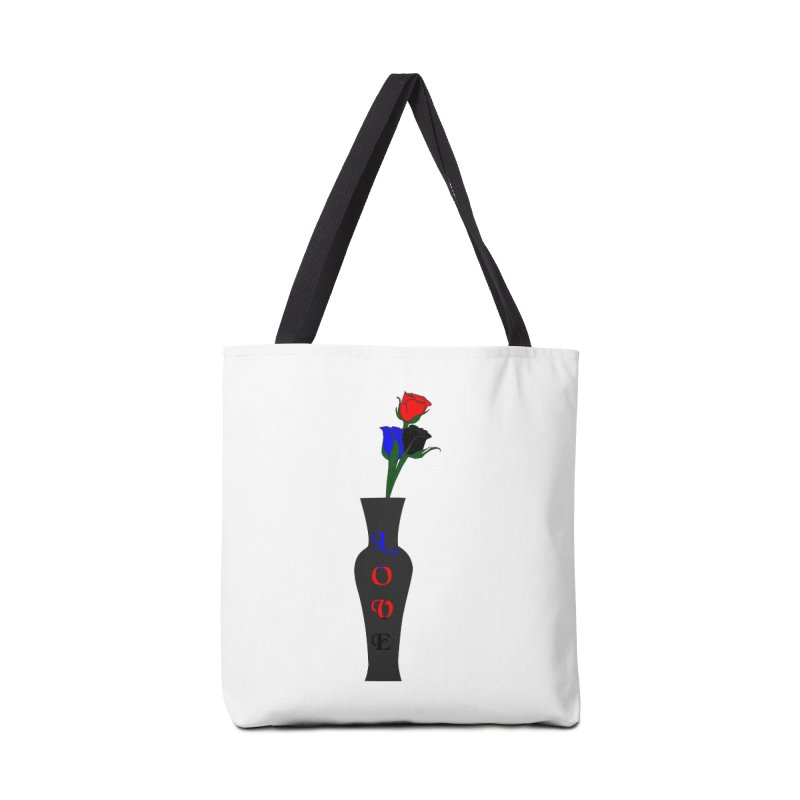 Polyamorous Pride Roses Accessories Bag by Artistfire Studios