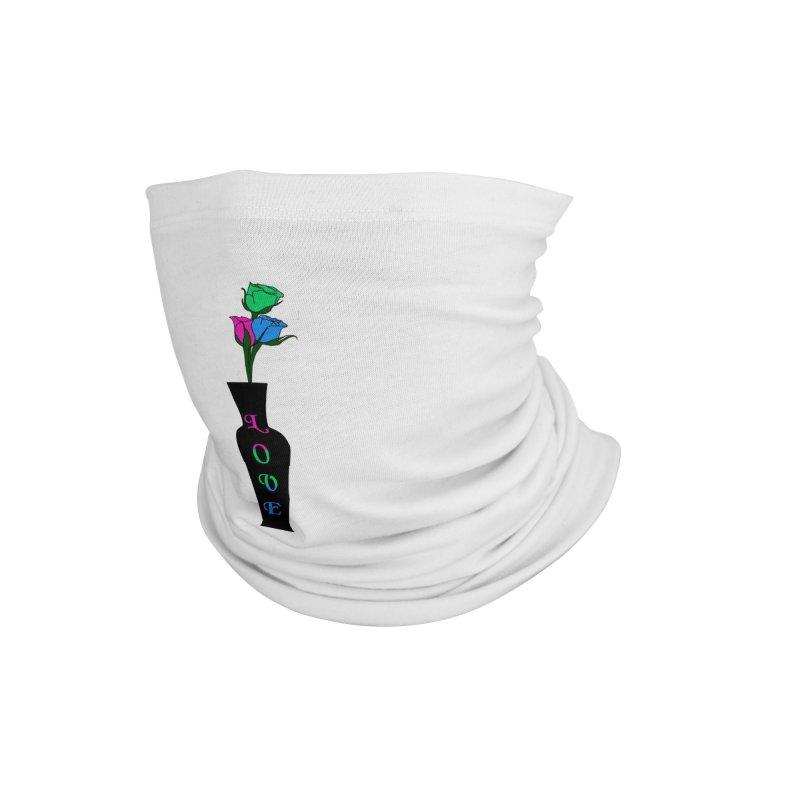 Polysexual Pride Roses Accessories Neck Gaiter by Artistfire Studios