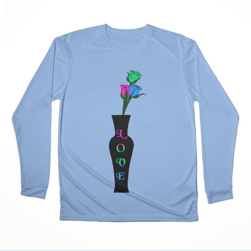 Polysexual Pride Roses Men's Longsleeve T-Shirt by Artistfire Studios