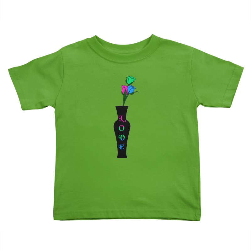 Polysexual Pride Roses Kids Toddler T-Shirt by Artistfire Studios