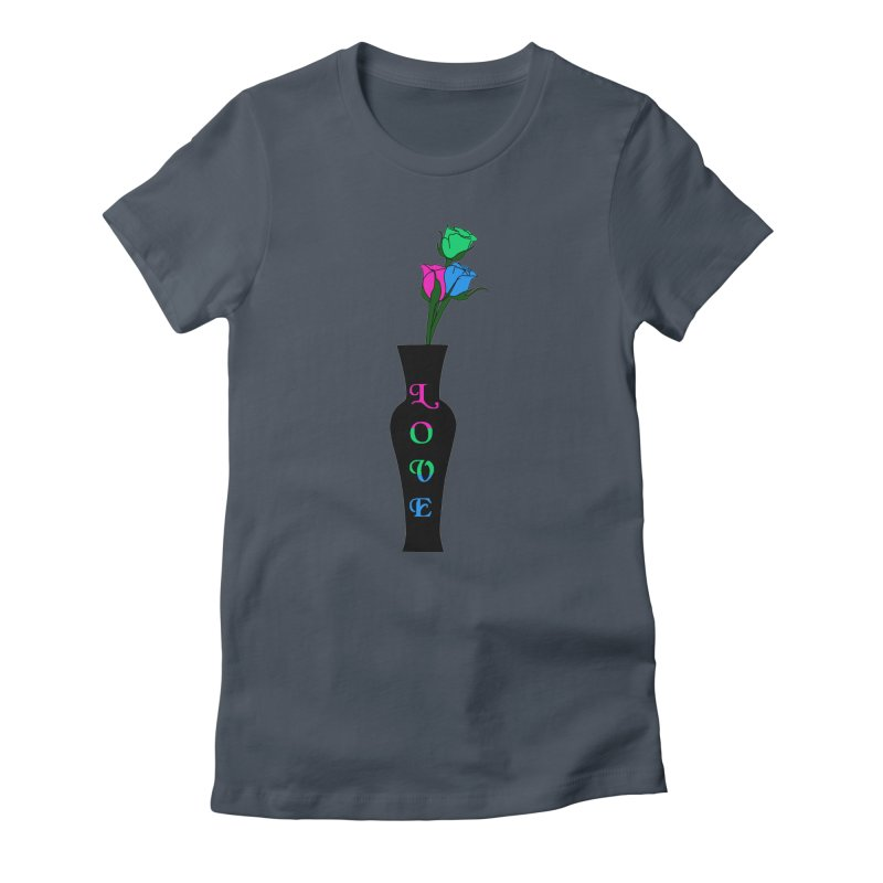 Polysexual Pride Roses Women's T-Shirt by Artistfire Studios