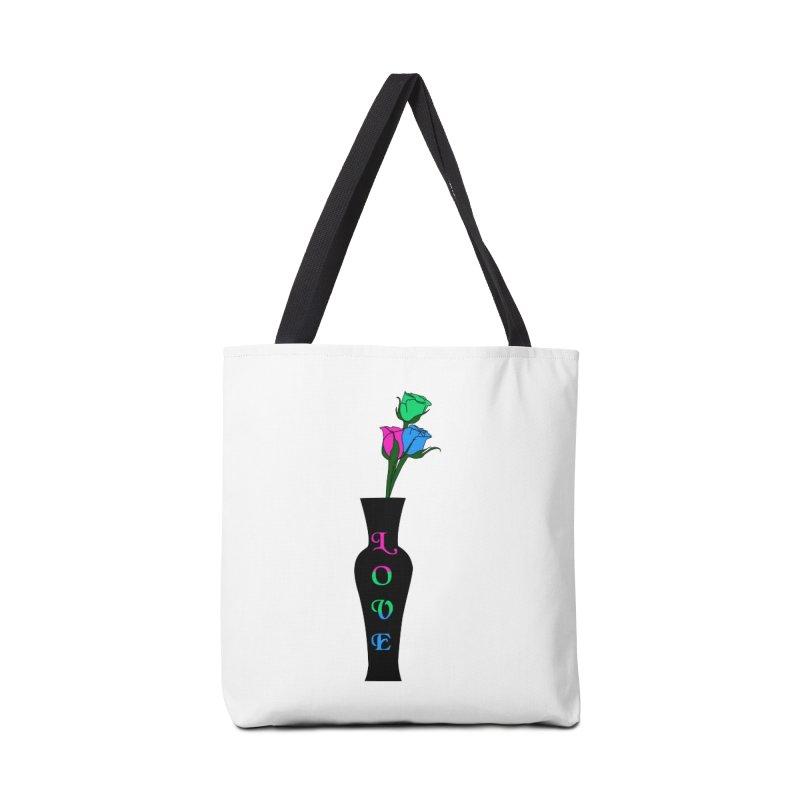 Polysexual Pride Roses Accessories Bag by Artistfire Studios