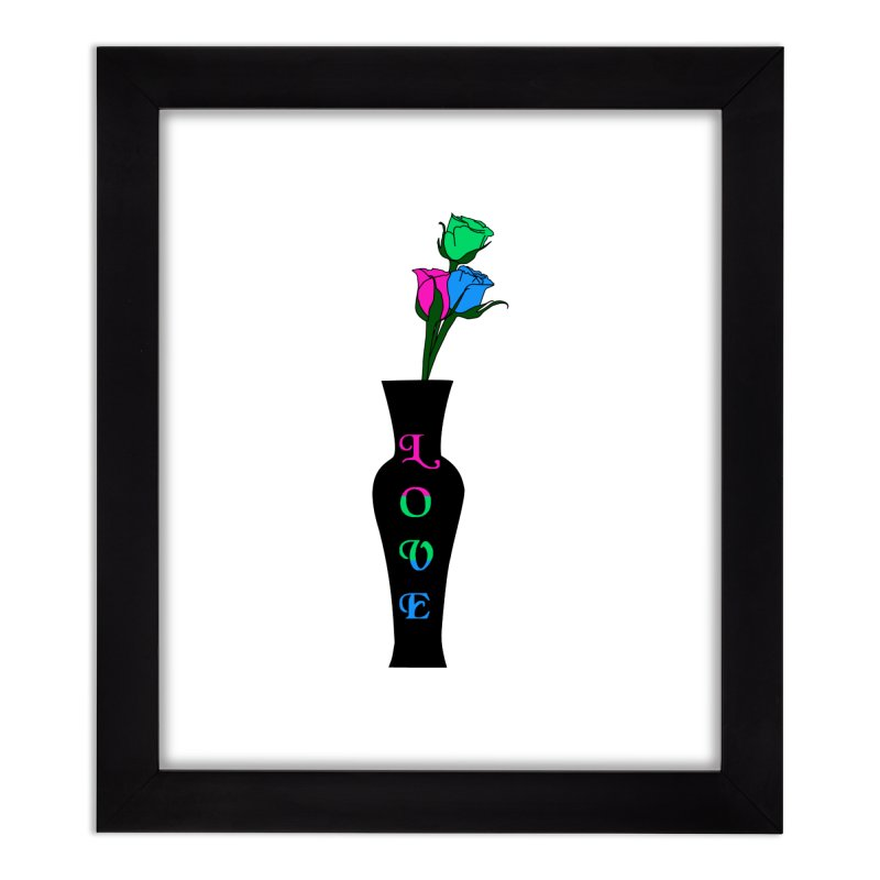 Polysexual Pride Roses Home Framed Fine Art Print by Artistfire Studios