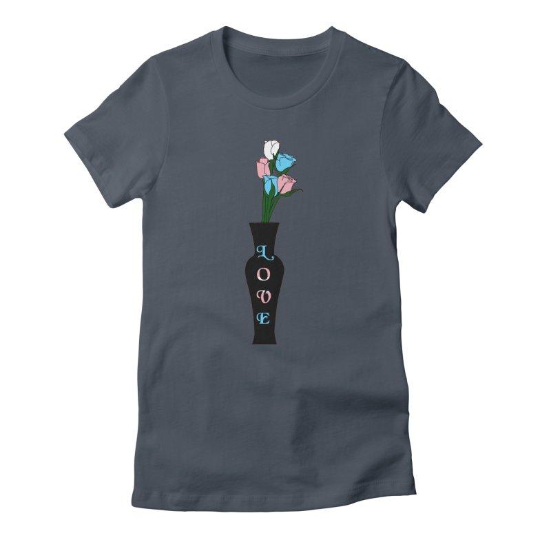 Transgender Pride Roses Women's T-Shirt by Artistfire Studios