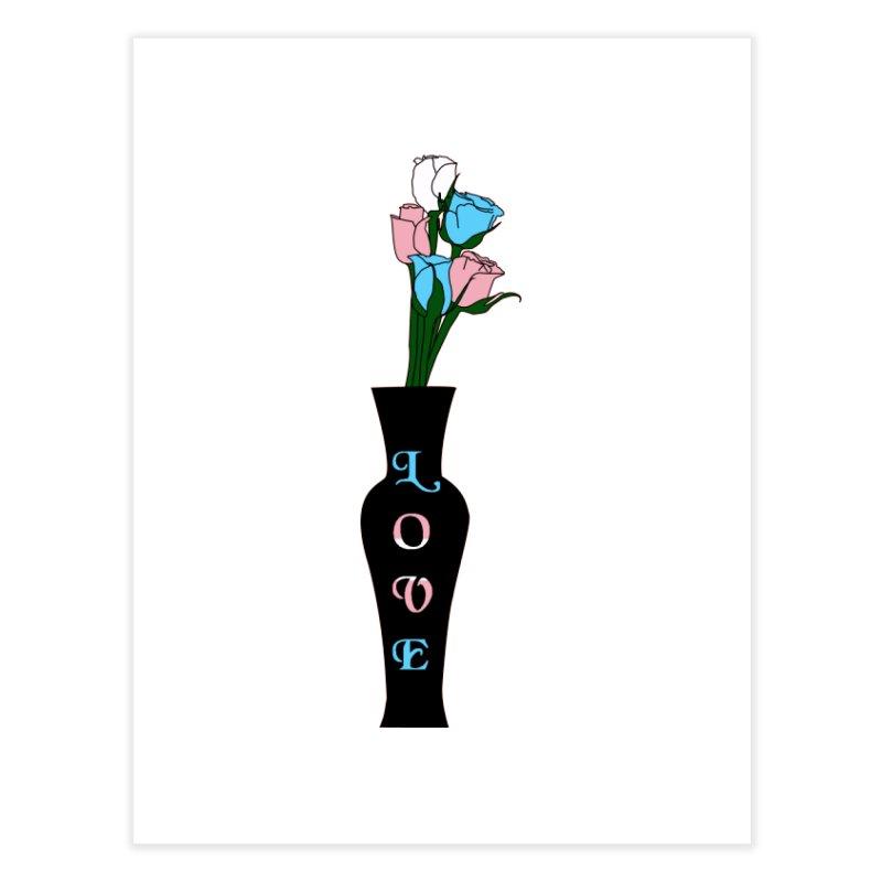 Transgender Pride Roses Home Fine Art Print by Artistfire Studios