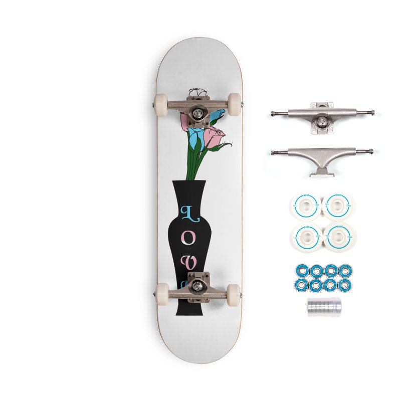 Transgender Pride Roses Accessories Skateboard by Artistfire Studios