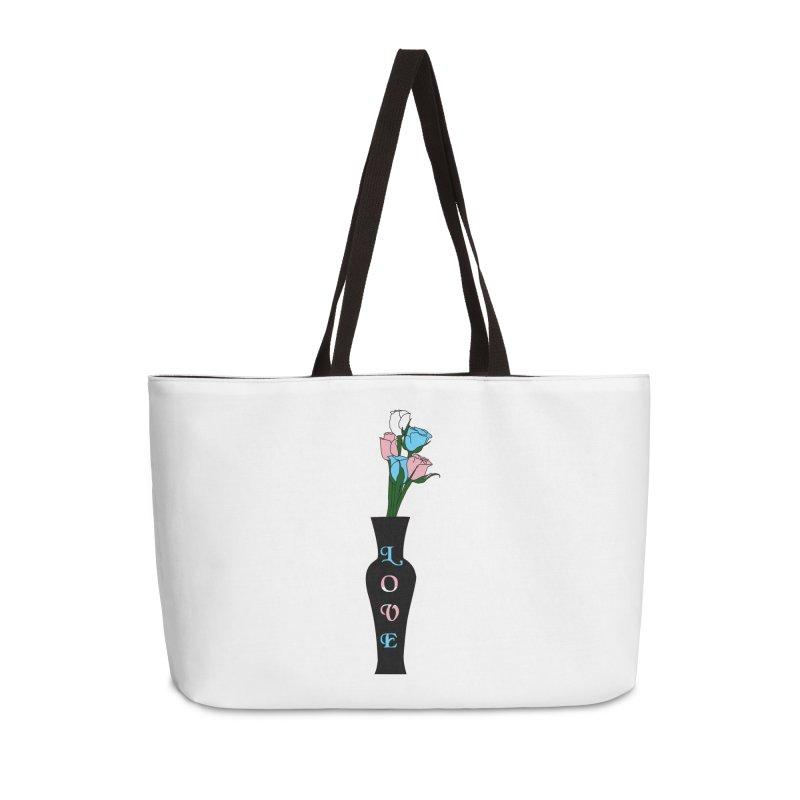 Transgender Pride Roses Accessories Bag by Artistfire Studios