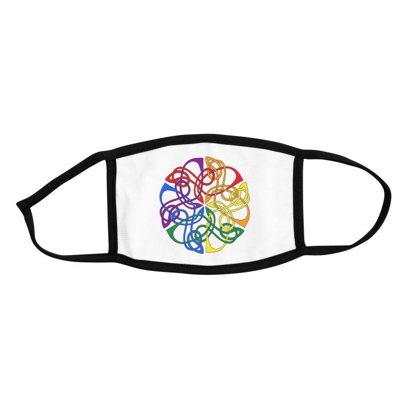 LGBTQ Pride Celtic Mandala Accessories Face Mask by Artistfire Studios