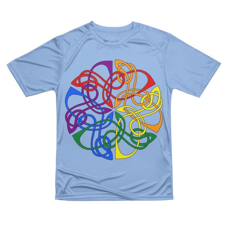 LGBTQ Pride Celtic Mandala Men's T-Shirt by Artistfire Studios