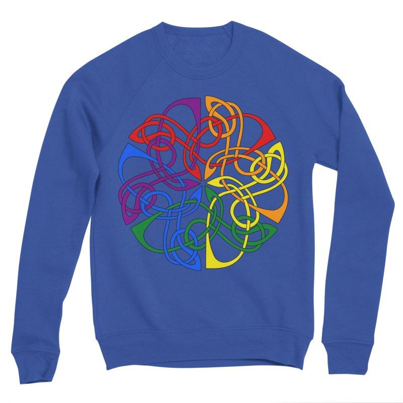 LGBTQ Pride Celtic Mandala Men's Sweatshirt by Artistfire Studios
