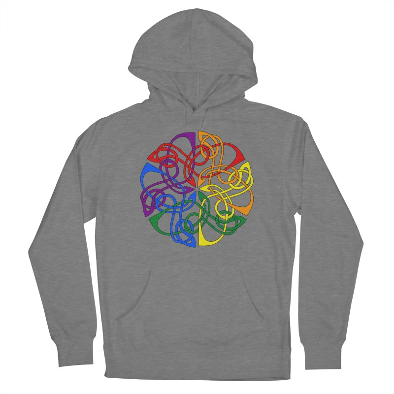 LGBTQ Pride Celtic Mandala Women's Pullover Hoody by Artistfire Studios
