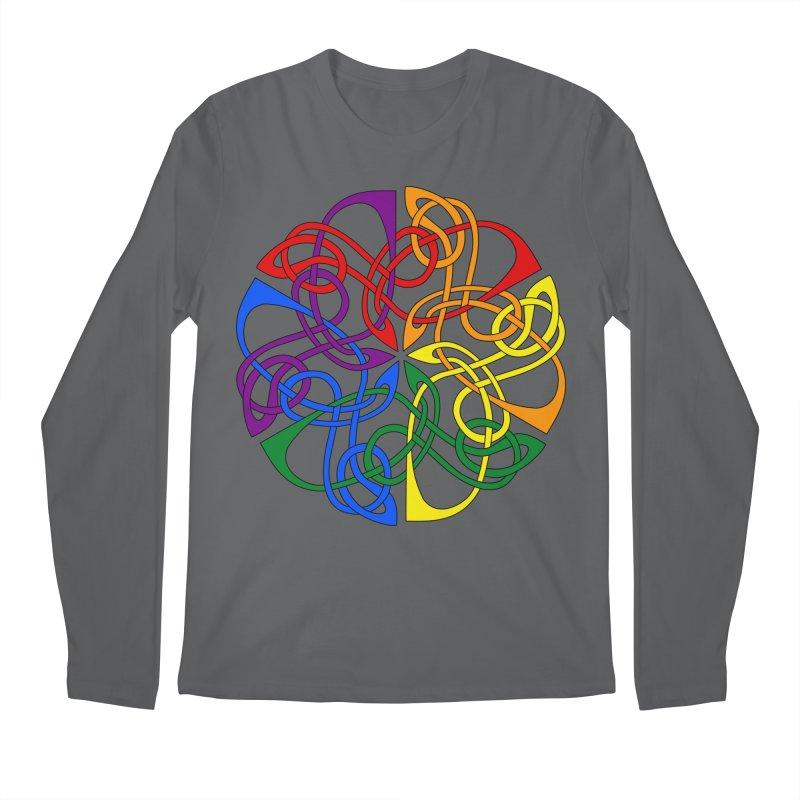 LGBTQ Pride Celtic Mandala Men's Longsleeve T-Shirt by Artistfire Studios