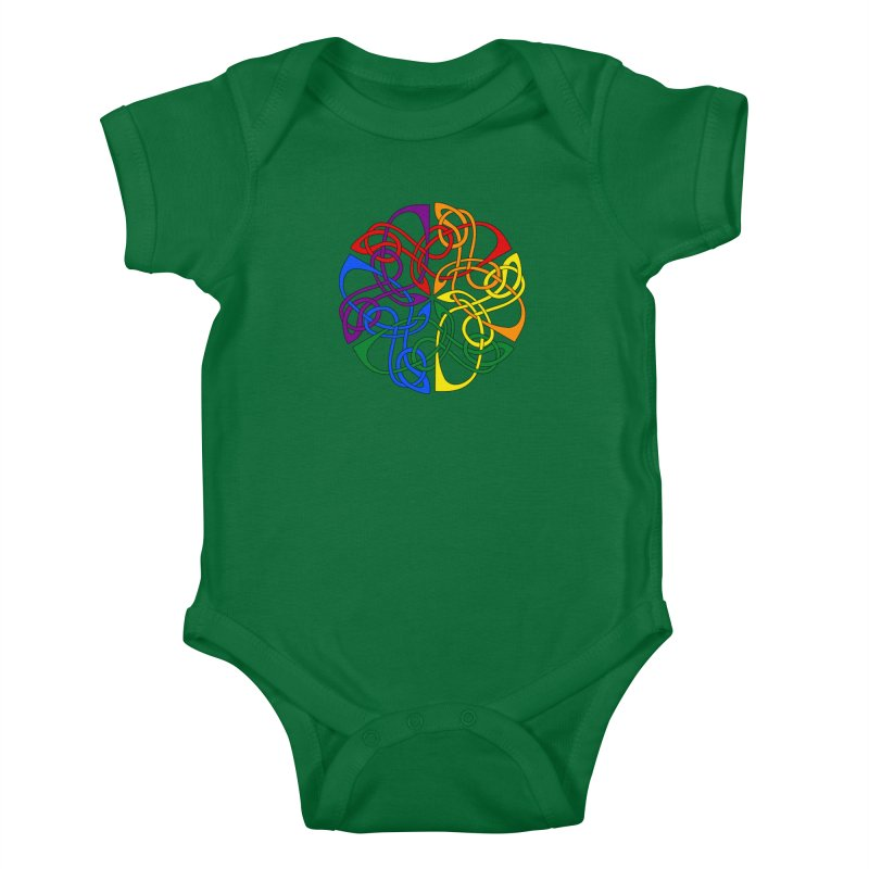 LGBTQ Pride Celtic Mandala Kids Baby Bodysuit by Artistfire Studios