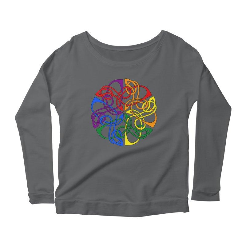LGBTQ Pride Celtic Mandala Women's Longsleeve T-Shirt by Artistfire Studios