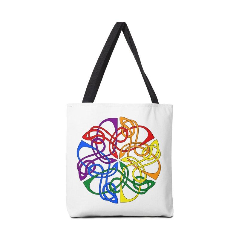 LGBTQ Pride Celtic Mandala Accessories Bag by Artistfire Studios
