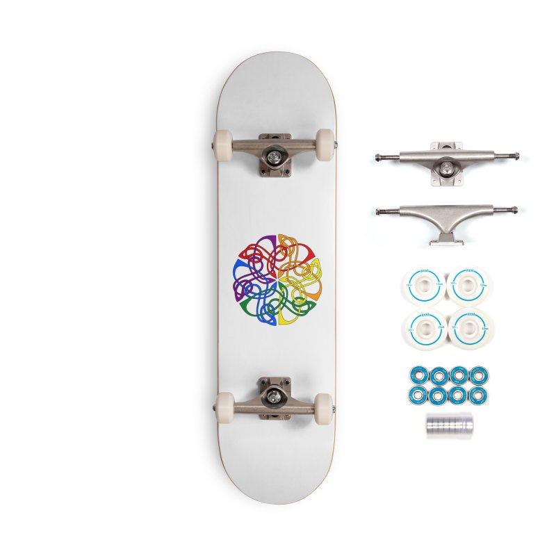 LGBTQ Pride Celtic Mandala Accessories Skateboard by Artistfire Studios