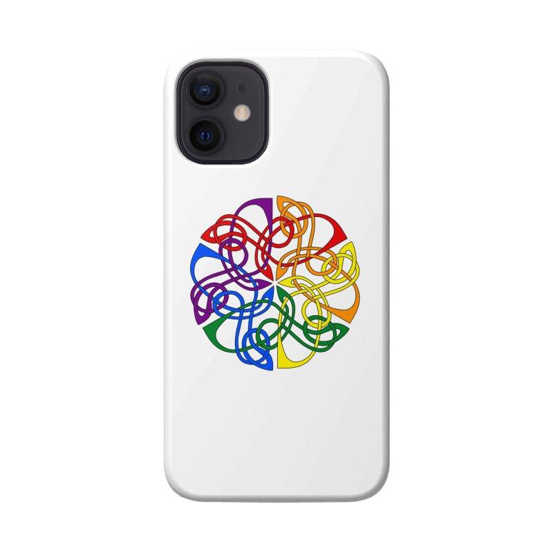 LGBTQ Pride Celtic Mandala Accessories Phone Case by Artistfire Studios