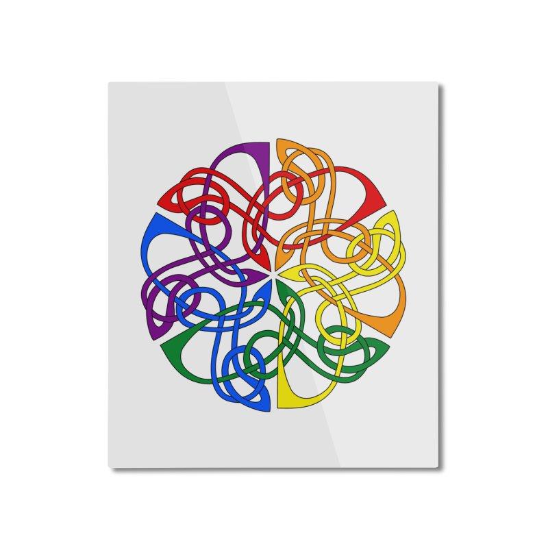 LGBTQ Pride Celtic Mandala Home Mounted Aluminum Print by Artistfire Studios