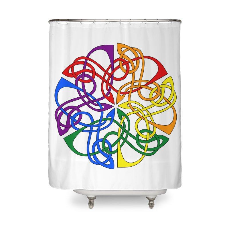 LGBTQ Pride Celtic Mandala Home Shower Curtain by Artistfire Studios
