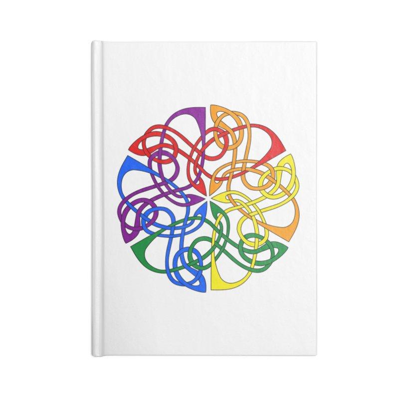 LGBTQ Pride Celtic Mandala Accessories Notebook by Artistfire Studios