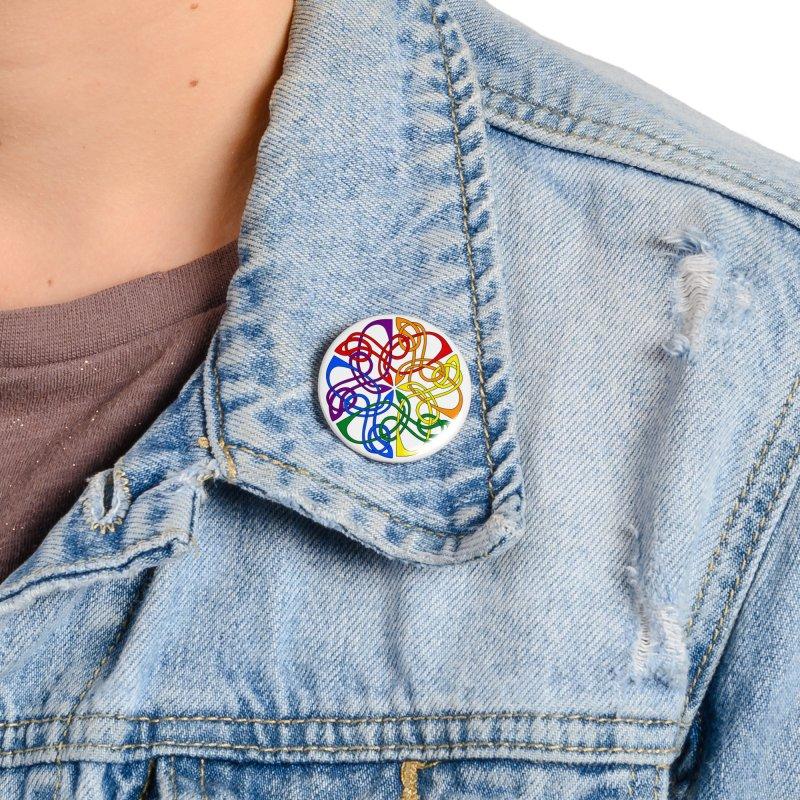 LGBTQ Pride Celtic Mandala Accessories Button by Artistfire Studios