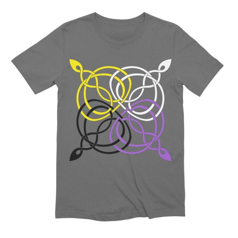 Non Binary Pride Celtic star Men's T-Shirt by Artistfire Studios