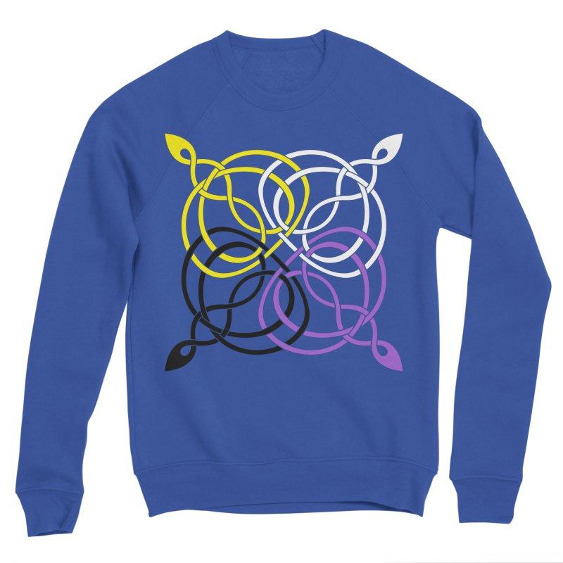 Non Binary Pride Celtic star Men's Sweatshirt by Artistfire Studios