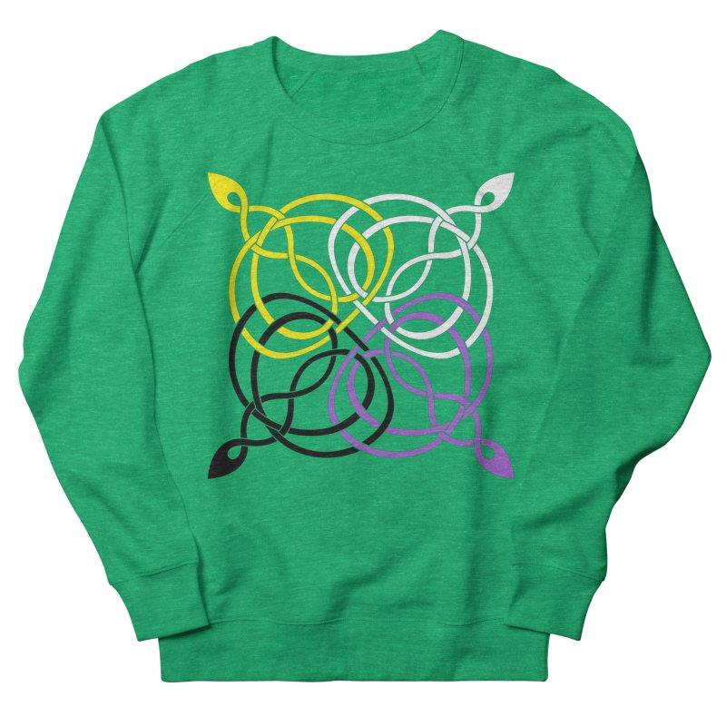 Non Binary Pride Celtic star Women's Sweatshirt by Artistfire Studios