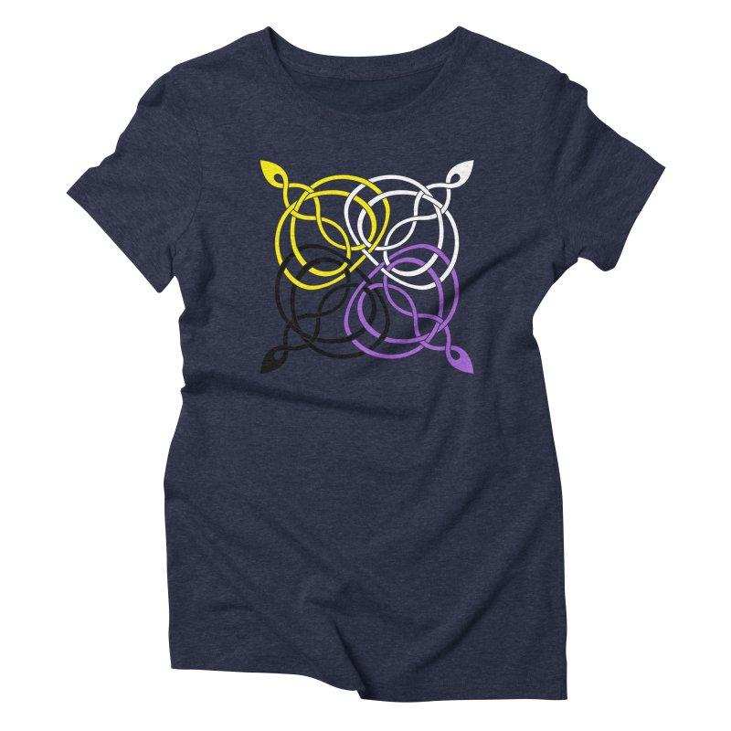 Non Binary Pride Celtic star Women's T-Shirt by Artistfire Studios