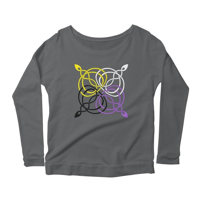 Non Binary Pride Celtic star Women's Longsleeve T-Shirt by Artistfire Studios