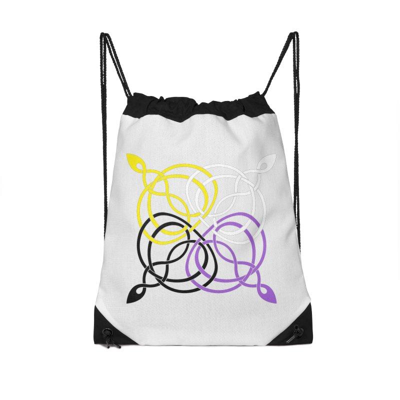 Non Binary Pride Celtic star Accessories Bag by Artistfire Studios