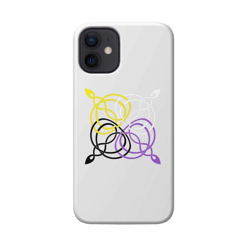 Non Binary Pride Celtic star Accessories Phone Case by Artistfire Studios