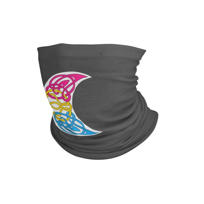 Pansexual Pride Celtic Moon Accessories Neck Gaiter by Artistfire Studios