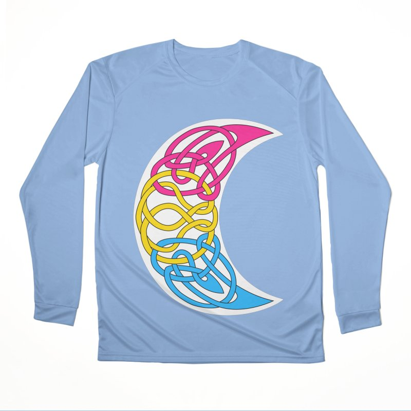 Pansexual Pride Celtic Moon Women's Longsleeve T-Shirt by Artistfire Studios
