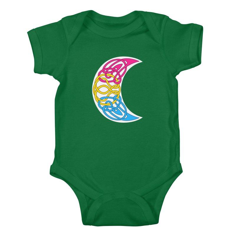 Pansexual Pride Celtic Moon Kids Baby Bodysuit by Artistfire Studios