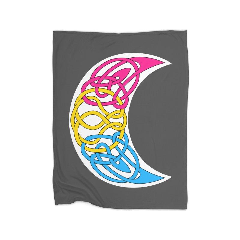 Pansexual Pride Celtic Moon Home Blanket by Artistfire Studios
